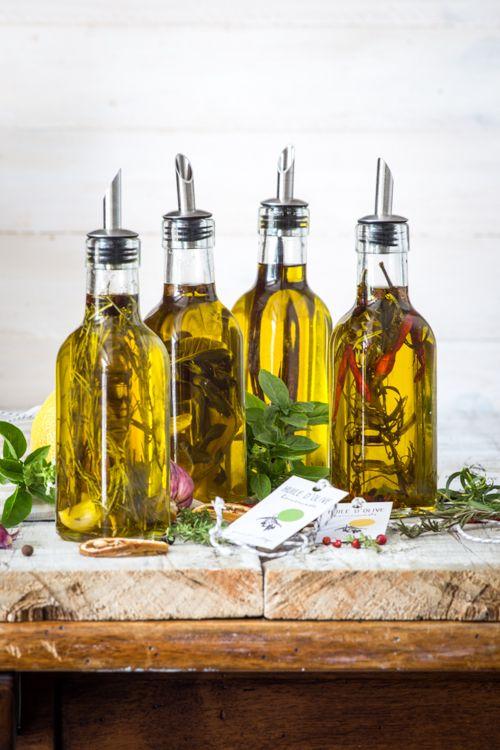 Huiles d'olives parfumées