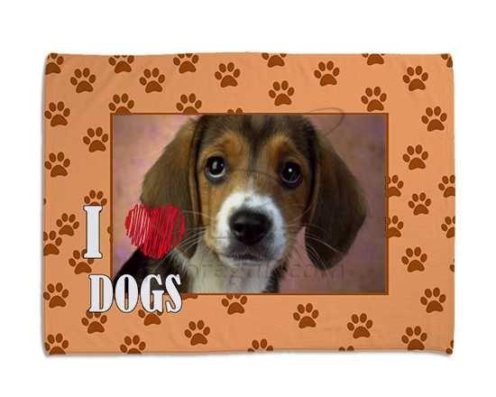 Impronte arancio per la tua coperta per cani