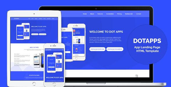 Dotapps - App Landing Page HTML Template