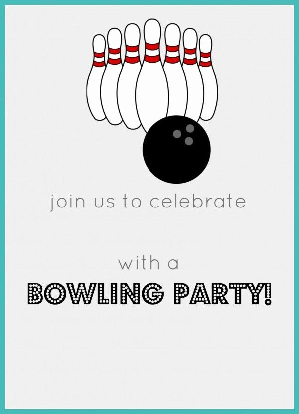 Best Of Bowling Birthday Party Invitations Template With Images Party Invite Template Bowling Party Invitations Bowling Birthday Party