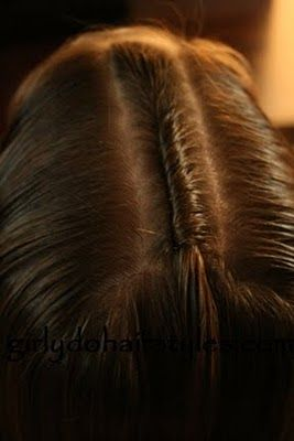 securing a twist with bobby pins