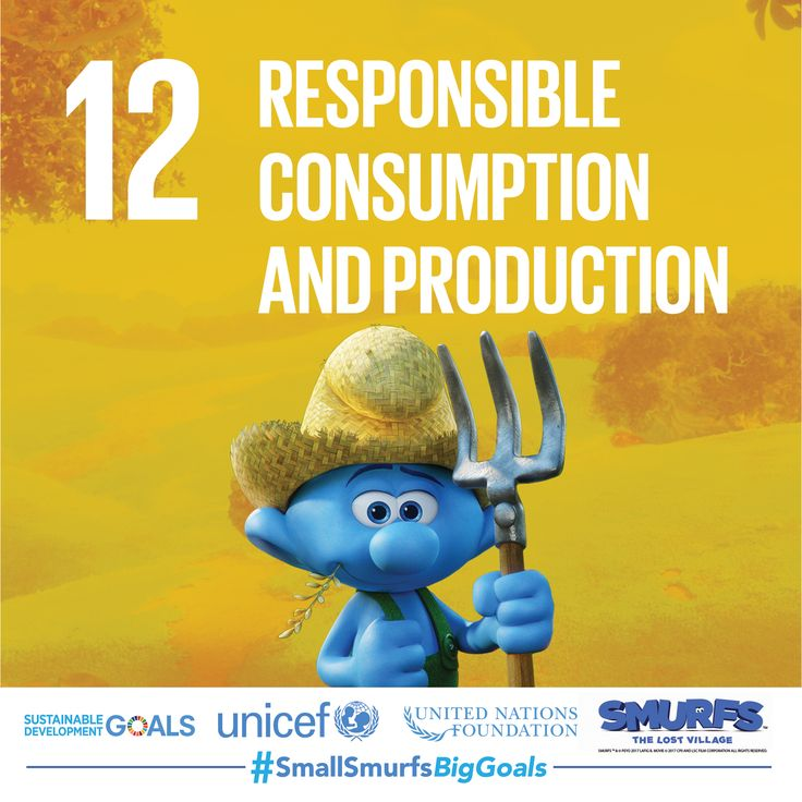 Do you know the 3 Rs? Reduce, reuse, recycle. Join #TeamSmurfs and find out more ways you can consume responsibly at SmallSmurfsBigGoals.com  #SmallSmurfsBigGoals