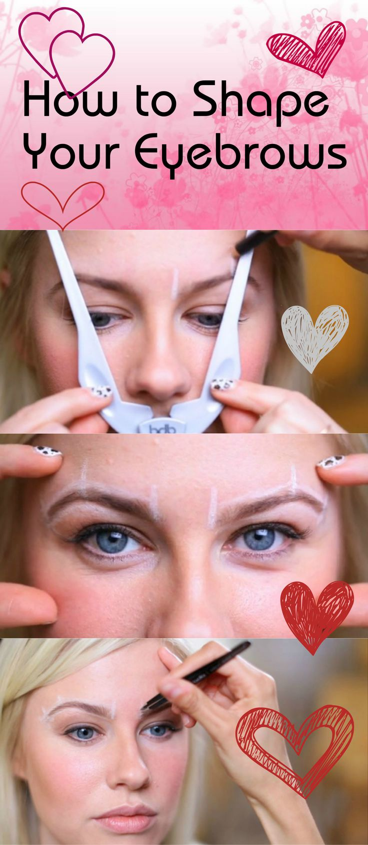 How to Find the Shape of Your Eyebrows | Easy Beauty Tips and Tricks by Makeup Tutorials at http://makeuptutorials.com/makeup-tutorial-how-to-shape-your-eyebrows