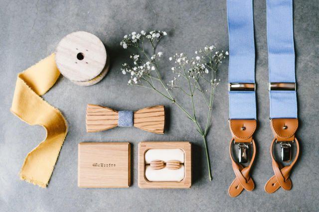 Lees hier alles over mannenmode voor elke type bruidegom! Manchetknopen & strik: BeWooden | Bewooden.de - Bretels: DutchDandy | Bretels.nl
