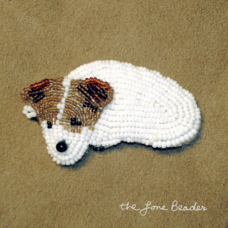 Adorable beaded pin made to order by The Lone Beader on Etsy.  Just Darling.Jack Russells, Art Pin, Irish Jack, Lonely Beaders, Jack Russell Terriers, Beads Art, Beads Animal, Beads Pin, Terriers Beads