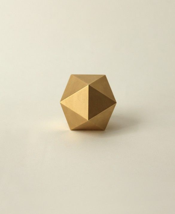 Brass Icosahedron Paperweight | Still House