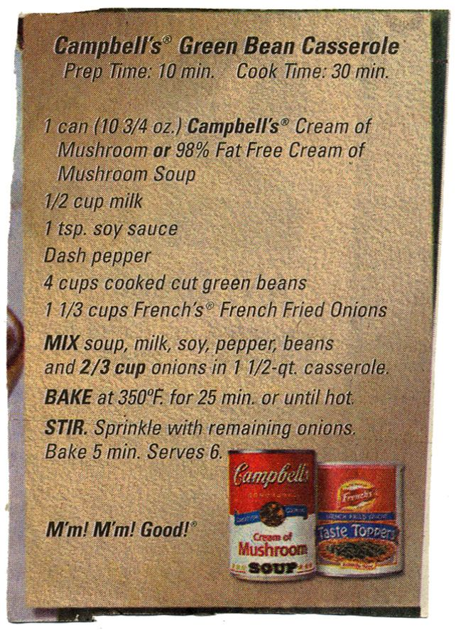 Side - Campbell's Green Bean Casserole. BX0022 | by Eudaemonius