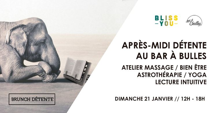 Paris Food & Drink Events: Brunch Détente January 21 @ 12:00 - 18:00