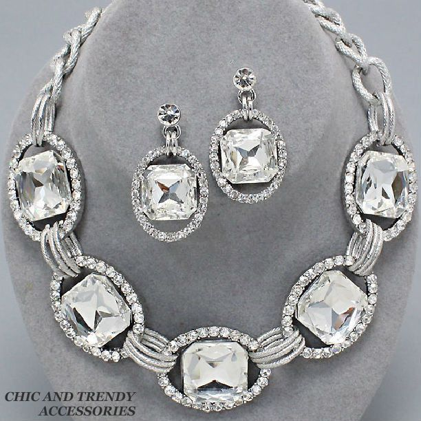 chunky diamond necklace