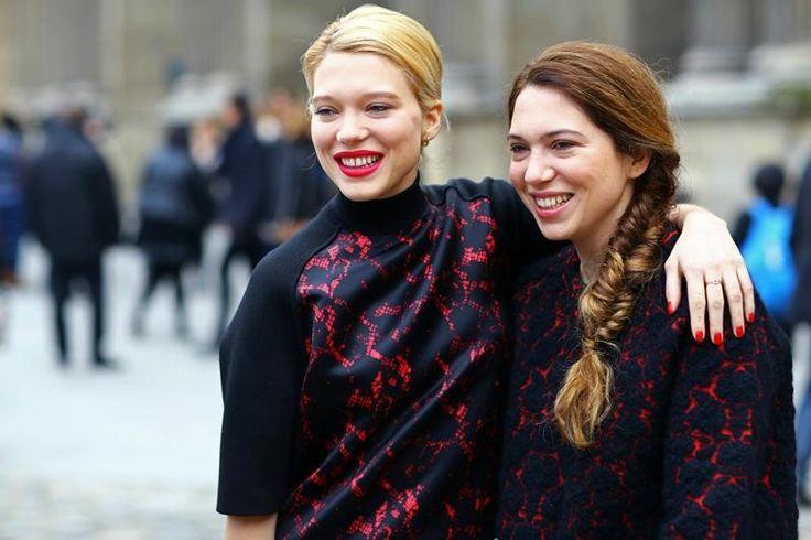Lea with sister Camille Seydoux, styliste de stars http://www.paperblog.fr/7459534/camille-seydoux-styliste-de-stars/