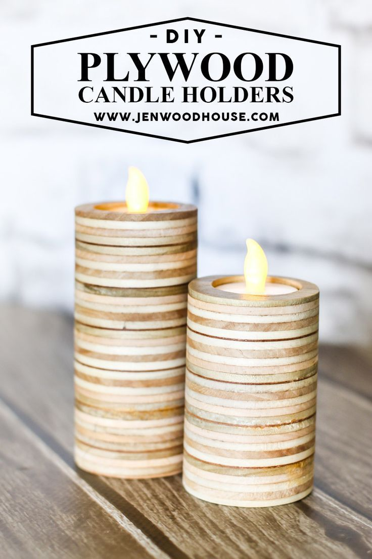 diy scrap plywood tea light candle holders candles love. Black Bedroom Furniture Sets. Home Design Ideas