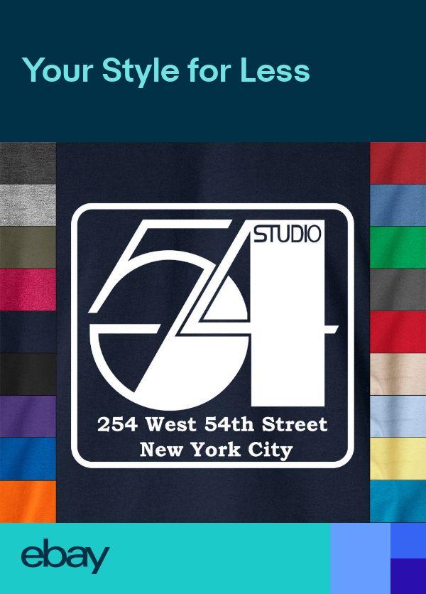 New York STUDIO 54 Nightclub 100% Ringspun Cotton T-Shirt Disco Club Retro Tee