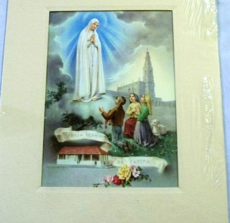Our Lady of Fatima, religious picture, Vintage Spirituality & Religion, Nossa Senhora DE FATIMA, religious vintage, - pinned by pin4etsy.com