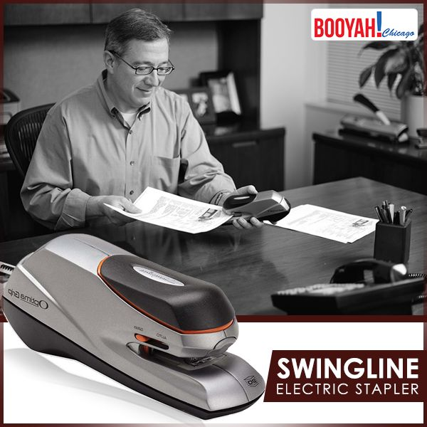#GenuineImportedProductsDirectFromUSA Only at Booyahchicago.com Swingline Electric Stapler Optima Grip Dual Power 20 Sheet Capacity Silver. Buy Now: https://tinyurl.com/ydx4985g #OfficeSupplies #SchoolSupplies
