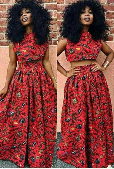 African Prints crop top and maxi skirt, Custom made ankara top & maxi skirt for sale, Crop top and Skirt, African print dress, Ankara Dress by Elaborationzz on Etsy