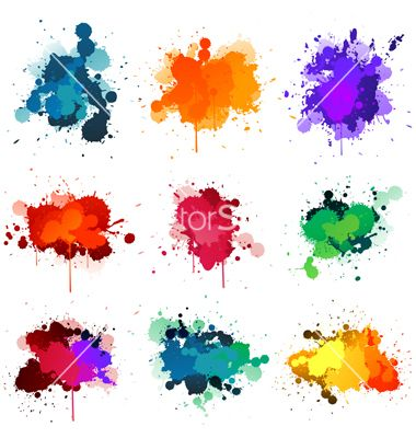 Paint splatter vector 564643 - by hugolacasse on VectorStock®