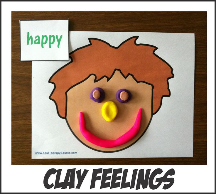 Clay Faces with Free Printables  -  Pinned by @PediaStaff – Please Visit http://ht.ly/63sNt for all our pediatric therapy pins