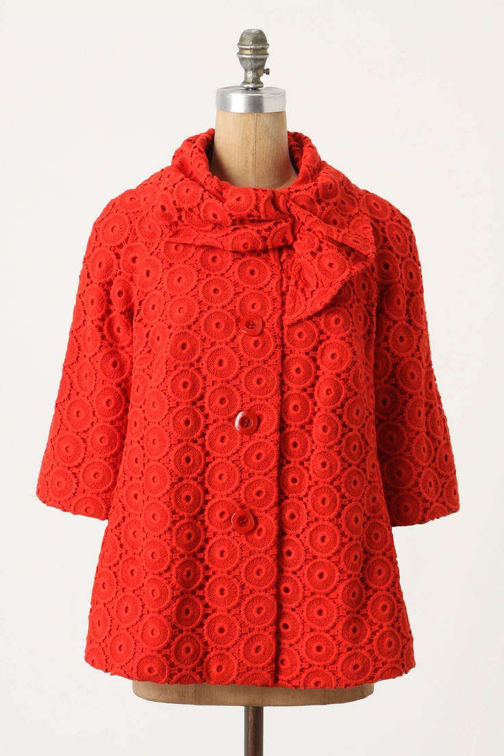 cute!: Style, Birthday Gift, Swings, Swing Coats, Red Jackets, Anthropologie Swing, Constructed Swing, Red Coats
