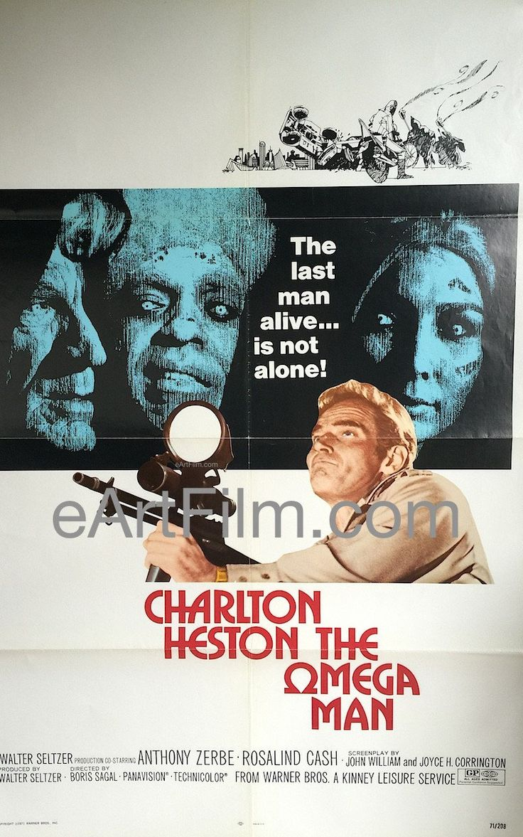 Happy Birthday #CharltonHeston https://eartfilm.com/search?q=charlton+heston #actors #movie #movies #poster #posters #film #cinema #movieposter #movieposters    Omega Man, The 1971 27x41 One Sheet United States
