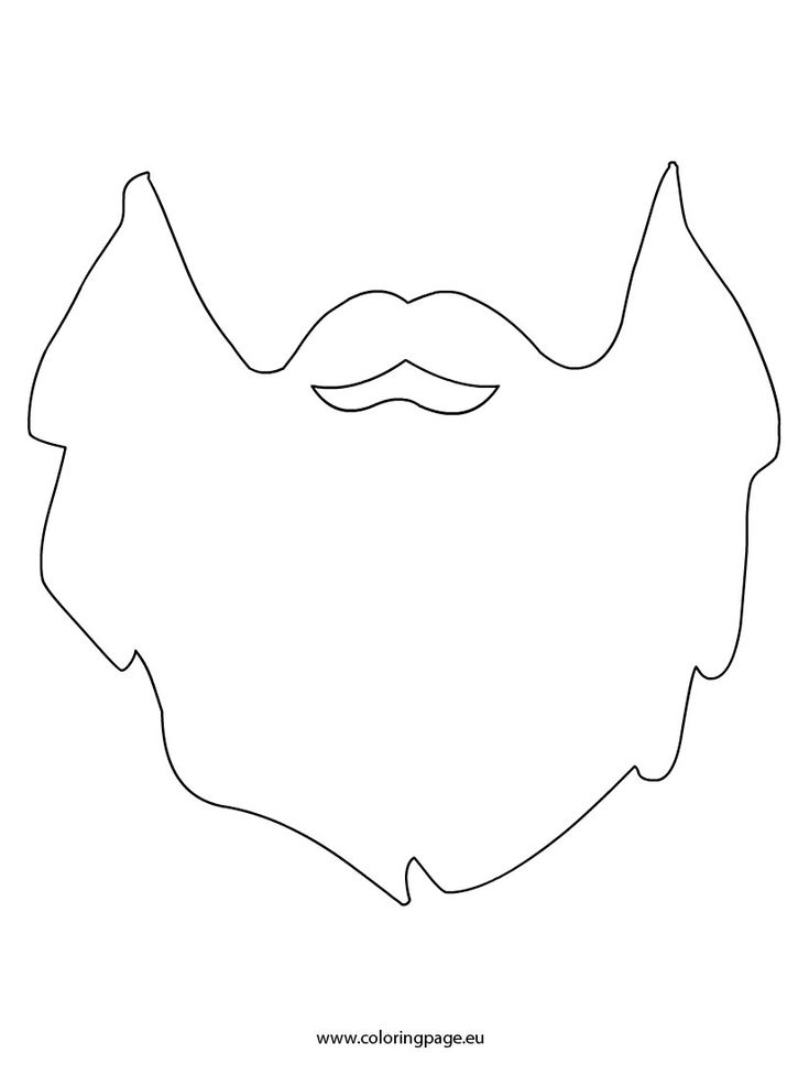 Beard printable szablony pinterest for Moustache coloring pages