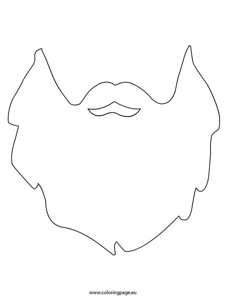 Beard printable szablony pinterest for Santa beard coloring page