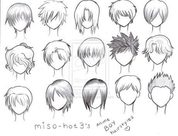 How To Draw Hair Step By Step Image Guides Anime Character Drawing Anime Boy Hair Manga Hair