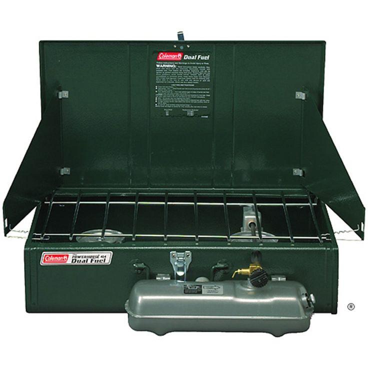 $179 Coleman - Coleman – Dual Fuel™ Camp Stove – 2-Burner Liquid Fuel Stoves - Dual Fuel™ Powerhouse 2-Burner Stove
