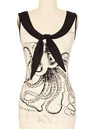 Back In Stock - Call of the Kraken Sailor Top by Jawbreaker Clothing Clothing