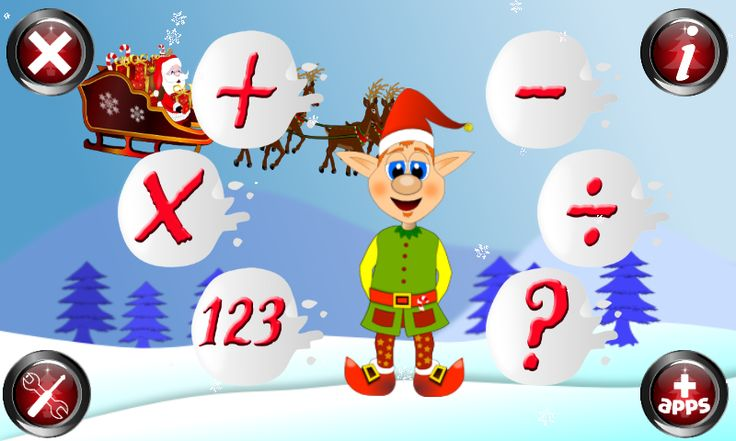 Christmas Games Math Santa - screenshot