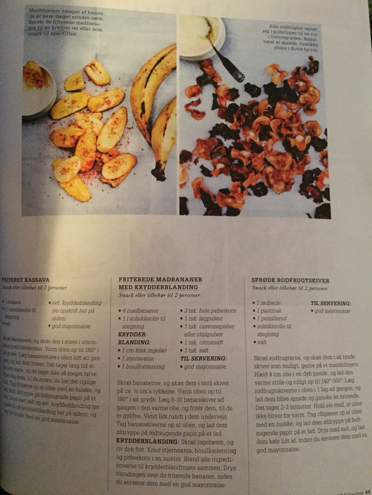 Sunde Chips i olie (mad & bolig - Gourmet)