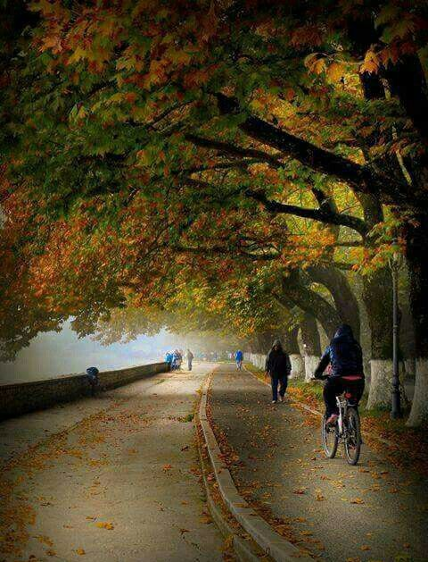 Autumn at Lake Pamvotis, Ioannina, Epirus region, Greece