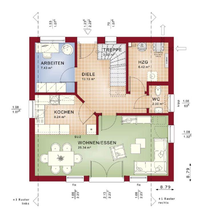 Cool Einfamilienhaus Celebration V Bien Zenker Grundriss Erdgeschoss Fertighaus mit Satteldach