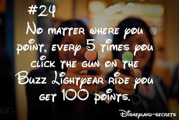 If this is true, then I will be scoring a lot higher on Buzz Lightyear Astro Blasters in Disneyland
