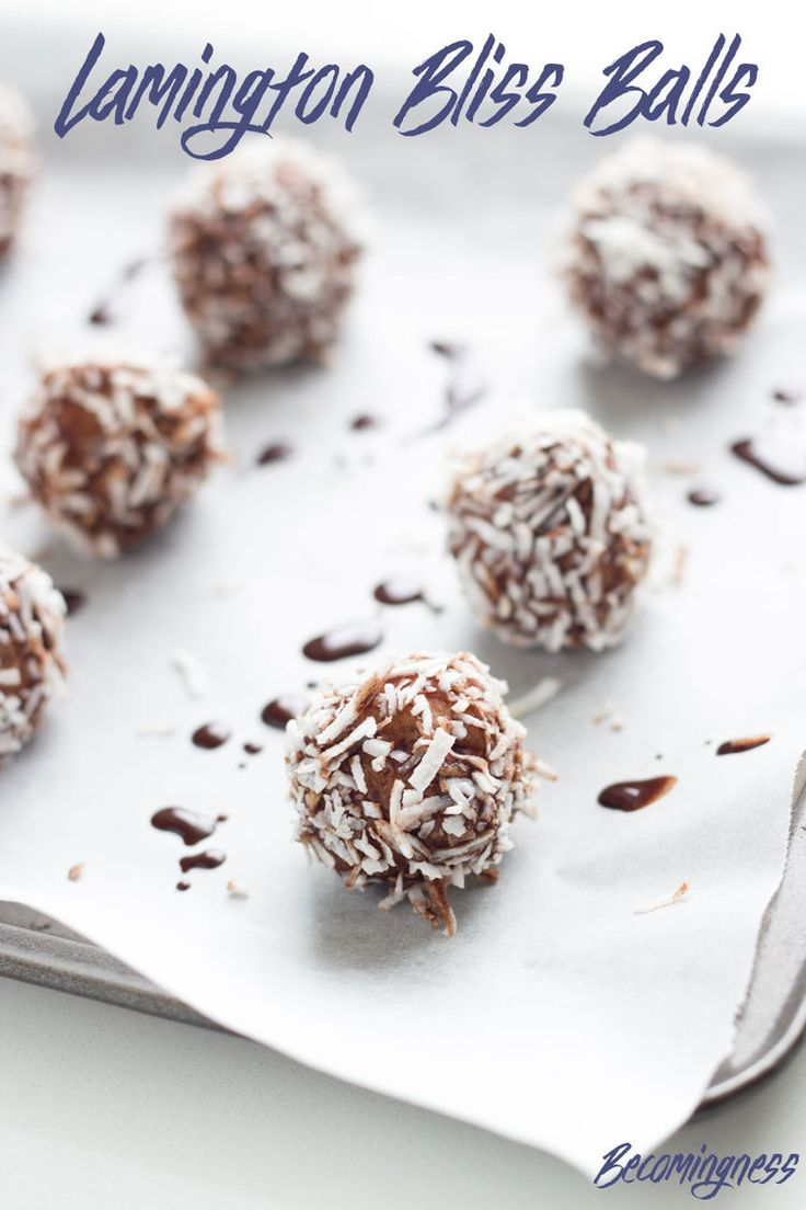 These Lamington Bliss Balls are yummy, super easy to make and tick most of the boxes - gluten free, dairy, free, refined sugar free, vegan, paleo etc