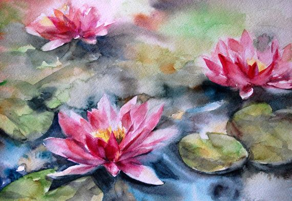 Les 25 meilleures id es de la cat gorie rose a l 39 aquarelle - Peindre sur de la peinture brillante ...