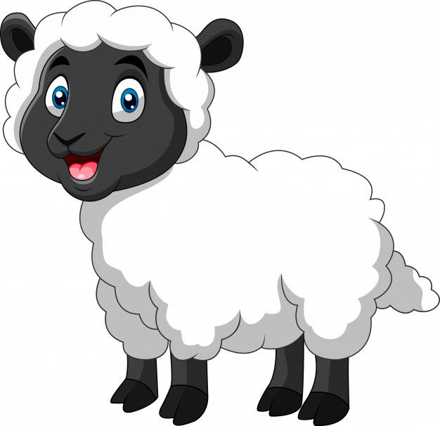Ovelha Engracado Dos Desenhos Animados Um Sorriso Funny Sheep Animal Crafts For Kids Cartoon