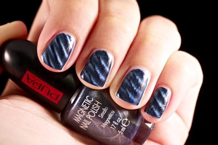 MAGNETIC NAIL ART KIT BLUE