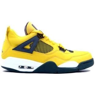Supra 314254 702 Air Jordan IV 4 Retro Mens Basketball Shoes Tour Yellow Grey A04012