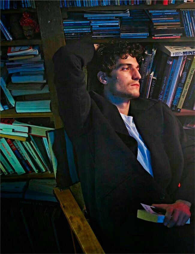 Louis Garrel. Light READING for MEN