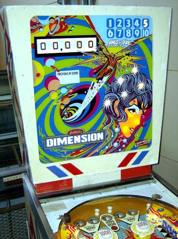 pinball machine dimension