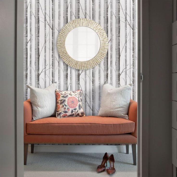 Best Birch Tree Wallpaper Peel And Stick In 2020 With Images Tree Wallpaper Bedroom Birch Tree 400 x 300