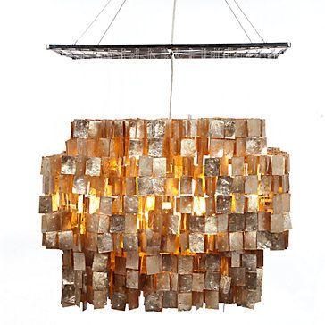 Capiz chandelier hanging lamps lighting decor z gallerie
