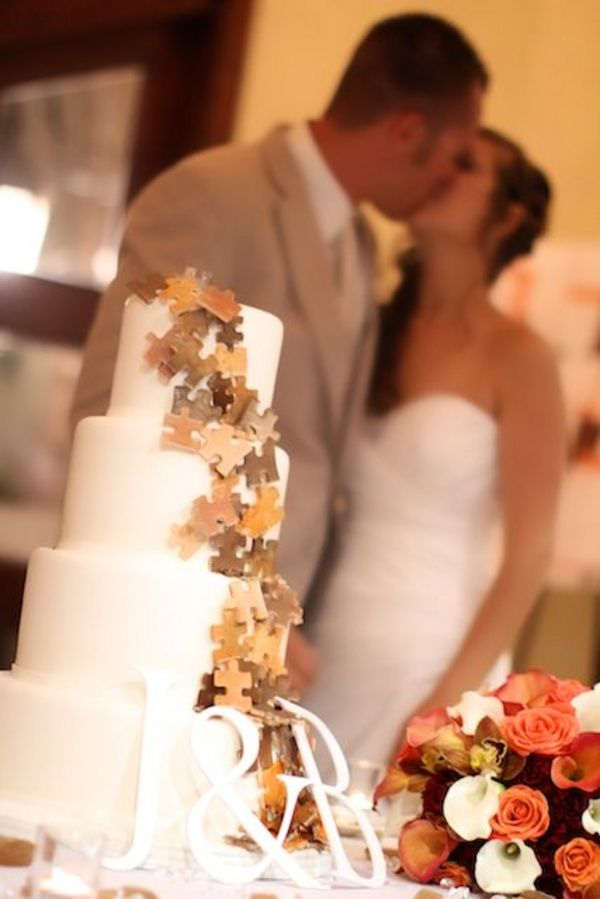 Puzzle Piece Themed Wedding