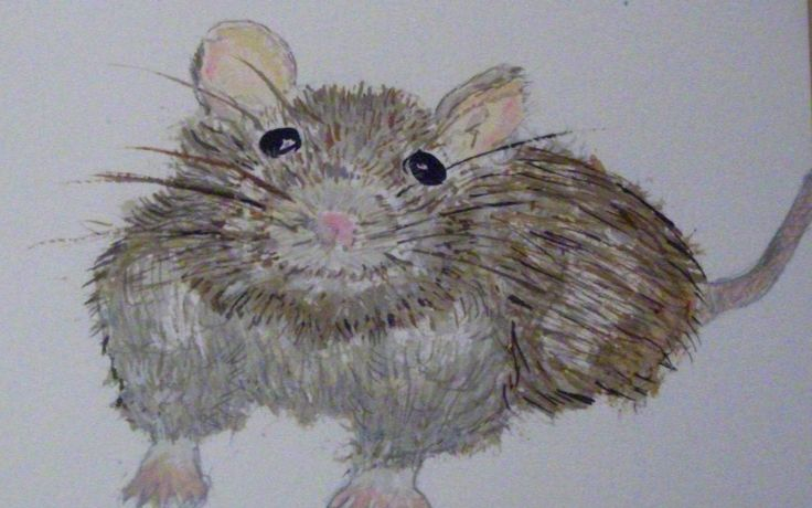 Charmed to meet you, rat! Water colour pencil.