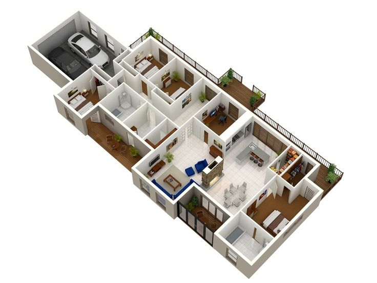 519 Best House/Apartment Models And Plans Images On Pinterest | House  Blueprints, House Template And Arquitetura