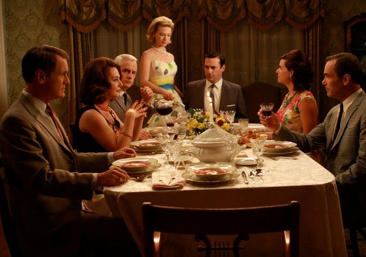 Mad Men dinner '60 style.  photo found on http://www.boweryboyshistory.com