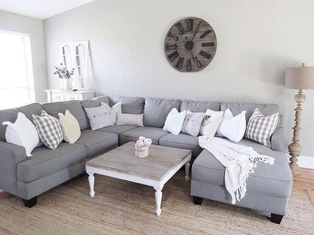 Lovely Ashley Home Furniture Gray Sectional Rustic