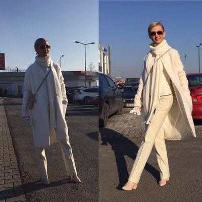#outfit #winter #allinwhite #tatuum #coat #zara #clotify