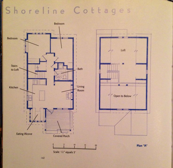Shoreline cottage plan A, from Blueprint Small Mimari