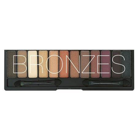 A collection of bronzes, golds, browns and wines Chi Chi Bronzes Eyeshadow Palette $22.95
